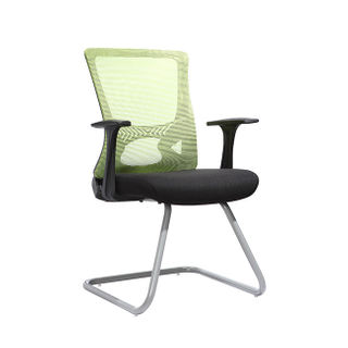 KB-2029C White Frame Back Mesh Conference Guest Chair